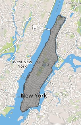 Manhattan GeoJson polygon Visualization