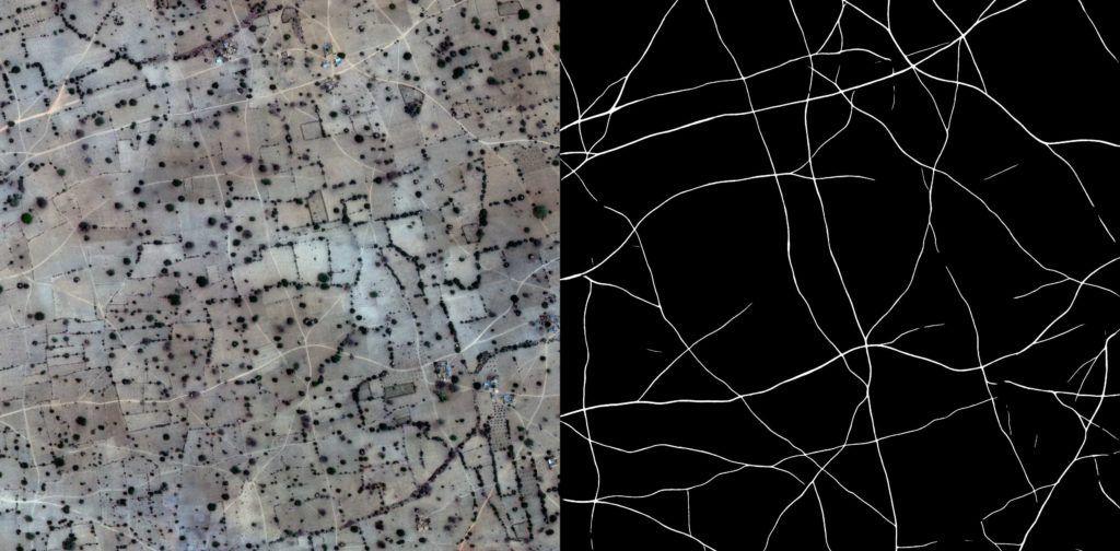 Tracks detection insatellite imagery.