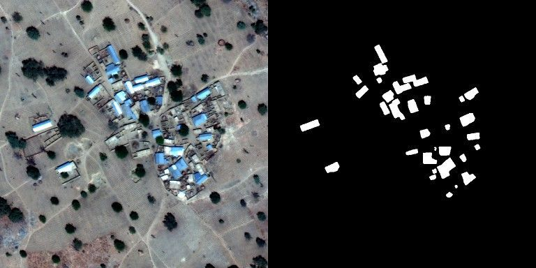 Buildings detection in satellite imagery.
