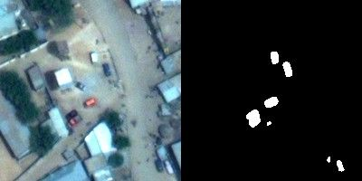 Small vehicles detection in satellite imagery.