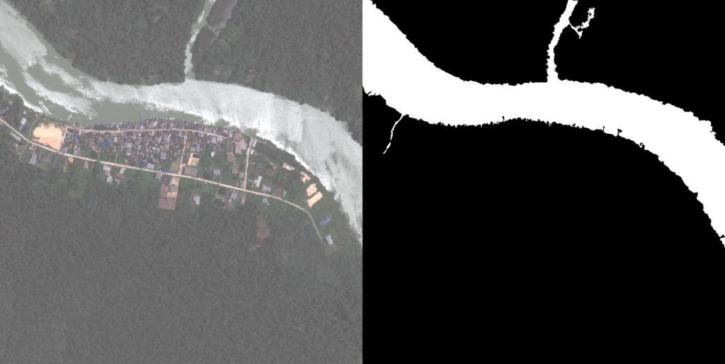 Waterway detection in satellite imagery.