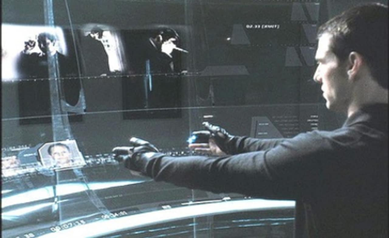 Crime forecasting: frame from 'Minority Report'